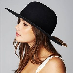 c99c63debc907  Brixton   Sol  Felt Hat with Feather Accent